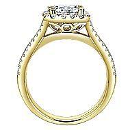 Corinna 14k Yellow Gold Princess Cut Halo Engagement Ring angle 2