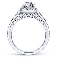 Cortlandt 14k White Gold Oval Halo Engagement Ring angle 2