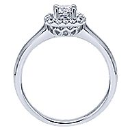 Courage 14k White Gold Round Halo Engagement Ring angle 2