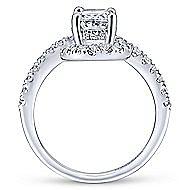Cressida 14k White Gold Oval Halo Engagement Ring angle 2