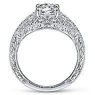 Cruiser 14k White Gold Round Wide Band Engagement Ring