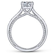 Cyan 14k White Gold Round Straight Engagement Ring angle 2