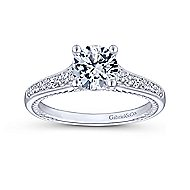 Cyan 14k White Gold Round Straight Engagement Ring angle 5