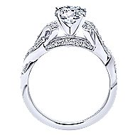 Cynthia 14k White Gold Round Twisted Engagement Ring angle 2