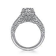Damiana 18k White Gold Round Halo Engagement Ring angle 2