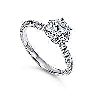 Dane Platinum Round Straight Engagement Ring