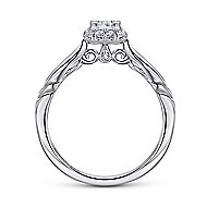 Daraga 14k White Gold Princess Cut Halo Engagement Ring angle 2