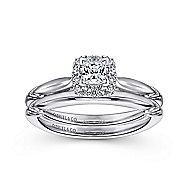 Daraga 14k White Gold Princess Cut Halo Engagement Ring angle 4