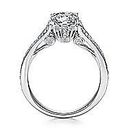 Darling 18k White Gold Round Split Shank Engagement Ring angle 2