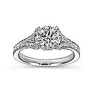 Darling 18k White Gold Round Split Shank Engagement Ring angle 5