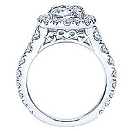 Deborah 18k White Gold Oval Halo Engagement Ring angle 2