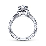 Dee 14k White Gold Round Straight Engagement Ring angle 2
