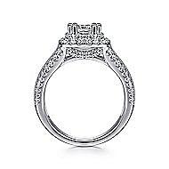 Delilah 14k White Gold Cushion Cut Double Halo Engagement Ring angle 2