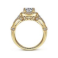 Delilah 14k Yellow Gold Round Halo Engagement Ring