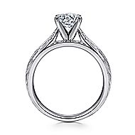 Della 14k White Gold Round Solitaire Engagement Ring