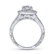 Dorothea 14k White Gold Oval Halo Engagement Ring angle 2