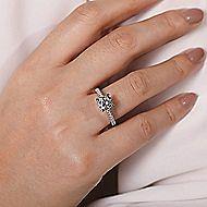 Dylan 18k White Gold Round Straight Engagement Ring