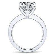 Edwina 14k White Gold Round Halo Engagement Ring angle 2