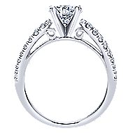 Elena 18k White Gold Round Split Shank Engagement Ring angle 2