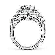 Elenor 18k White Gold Round Halo Engagement Ring angle 2