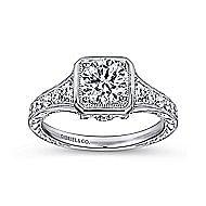 Elisa Platinum Round Halo Engagement Ring angle 5