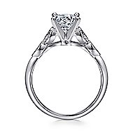 Eliza 14k White Gold Round Straight Engagement Ring angle 2