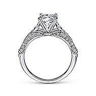 Elvira 18k White Gold Round Split Shank Engagement Ring angle 2