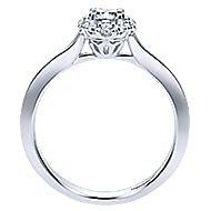 Embrace 14k White Gold Round Halo Engagement Ring angle 2
