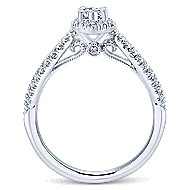 Empress 14k White Gold Marquise  Halo Engagement Ring angle 2