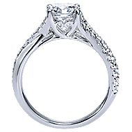 Endless 18k White Gold Round Twisted Engagement Ring angle 2