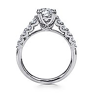 Eniko 18k White Gold Round Straight Engagement Ring angle 2