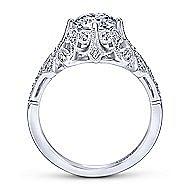 Esmerelda Platinum Round Straight Engagement Ring angle 2