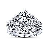 Esmerelda Platinum Round Straight Engagement Ring angle 4