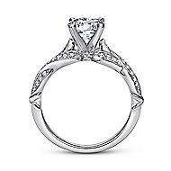 Estrella 18k White Gold Round Twisted Engagement Ring angle 2