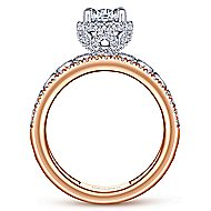 Ethel 18k White And Rose Gold Round Straight Engagement Ring angle 2
