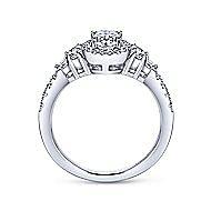 Eudora 14k White Gold Oval Halo Engagement Ring angle 2
