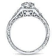Evangeline Platinum Round 3 Stones Engagement Ring angle 2