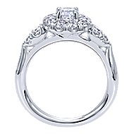 Everlasting 14k White Gold Round Halo Engagement Ring angle 2