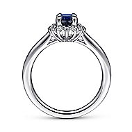 Fergie 14k White Gold Oval Halo Engagement Ring