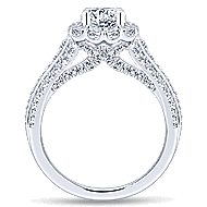 Fleur 14k White Gold Round Halo Engagement Ring angle 2