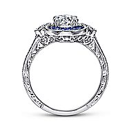 Fortune Platinum Round Halo Engagement Ring angle 2