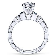 Frances 14k White Gold Round Straight Engagement Ring angle 2