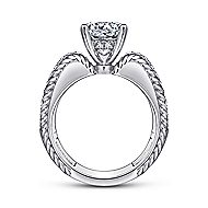 Freedom 14k White Gold Round Straight Engagement Ring angle 2