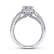 Freesia 14k White Gold Princess Cut Halo Engagement Ring angle 2