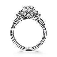 Frida 14k White Gold Round Twisted Engagement Ring angle 2
