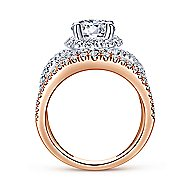 Gabriella 18k White And Rose Gold Round Split Shank Engagement Ring angle 2