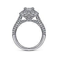 Gardenia 14k White Gold Cushion Cut Double Halo Engagement Ring angle 2