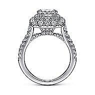 Gardenia 14k White Gold Cushion Cut Halo Engagement Ring angle 2