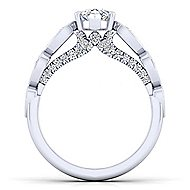 Garland 14k White Gold Pear Shape Straight Engagement Ring angle 2