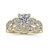 Garland 14k Yellow Gold Round Straight Engagement Ring